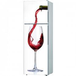 Vinilo de cocina vaso de vino