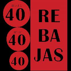 Adhesivos pack cartel rebajas 40