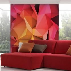 Mural en vinilo abstracto 3D