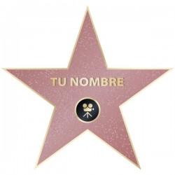 Vinilo estrella Hollywood