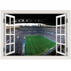 Ventana en vinilo Santiago Bernabéu