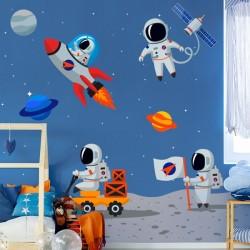 Vinilo infantil astronautas