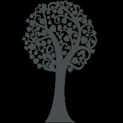 Adhesivo árbol corazón