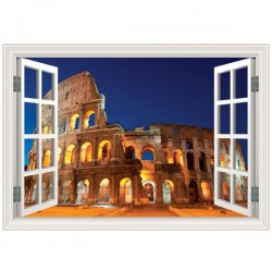 Ventana coliseo de Roma