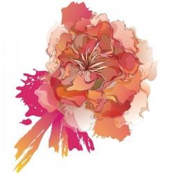 Adhesivo ramo de flores