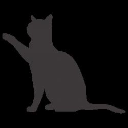 Vinilo silueta del gato