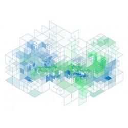 Vinilo para cómodas cubos 3D