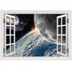 Ventana decorativa planetas