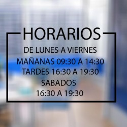 Vinilo horario para oficinas