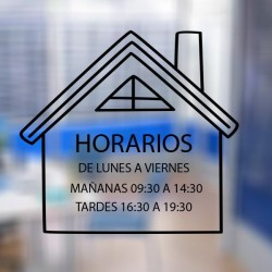Vinilo horario inmobiliarias