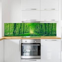 Mural panorámica de bosque