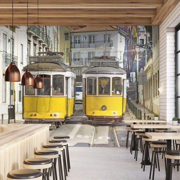 Mural tranvía de Lisboa