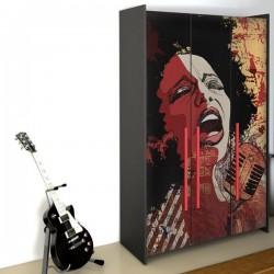 Adhesivo muebles cantante 1