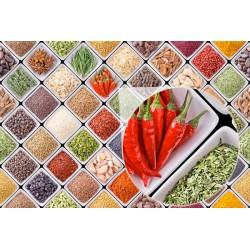 Mural especias y legumbres