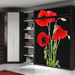 Adhesivo de flores rojas 1