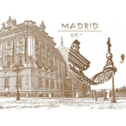 Fotomural ilustración Madrid