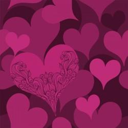 Adhesivo para armarios corazones