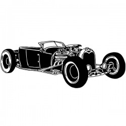 Vinilo de pared Hot Rod