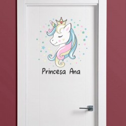 Vinilo unicornio para puerta