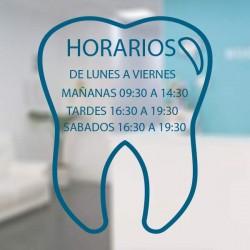 Vinilo horario para clínicas