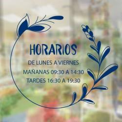 Vinilo horario para floristería