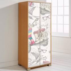 Vinilos decorativos de veh culos ideales para muebles for Adhesivos decorativos para muebles