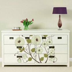 Vinilo para muebles floral vintage 5