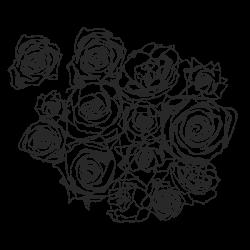 Vinilo adhesivo ramo de rosas