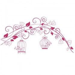 Vinilo decorativo pareja de pájaros