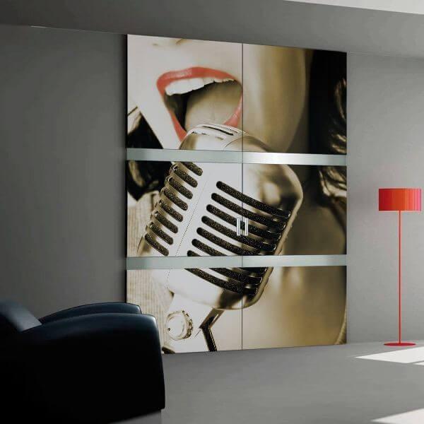 Vinilo para armarios micrófono
