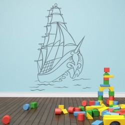 Vinilo de vehículos con barco