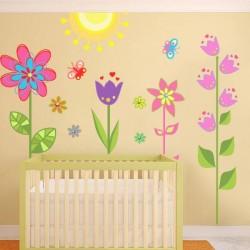 Vinilo bebé jardín infantil