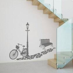 Adhesivo decorativo bici y...