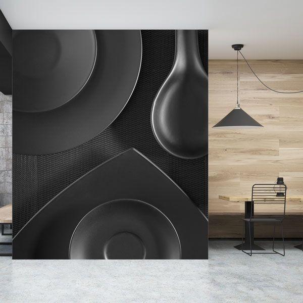 Mural de pared mesa negra