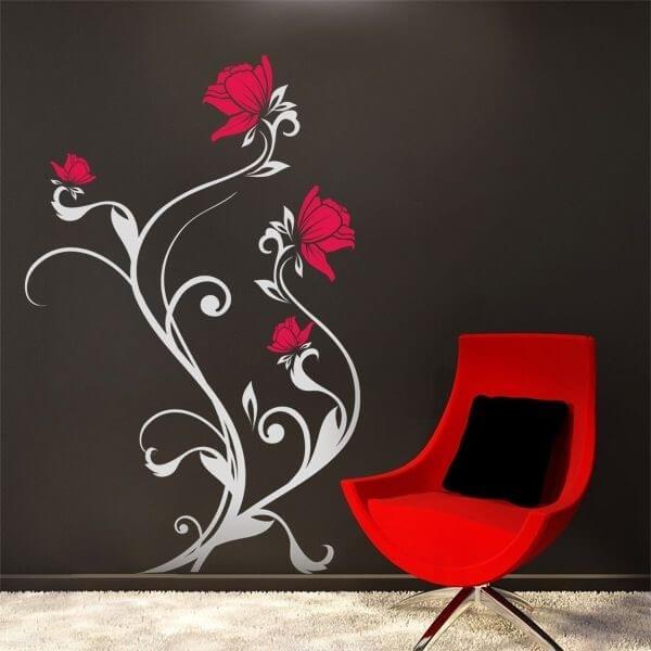 Vinilo de pared rosales