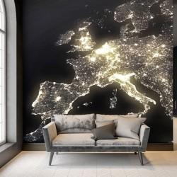 Fotomural Europa de noche