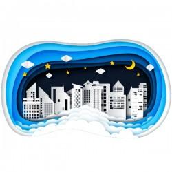 Vinilo ciudad 3D