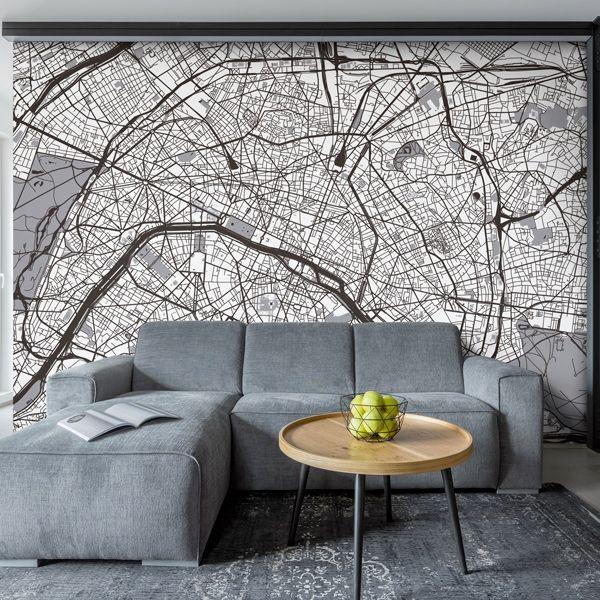 Fotomural mapa de París