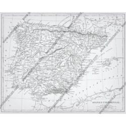 Fotomural mapa Portugal España