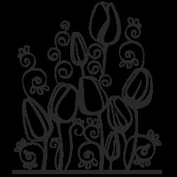 Vinilo Flores Tulipanes