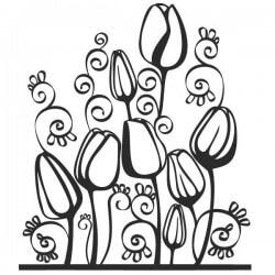 Adhesivo decorativo flores 7