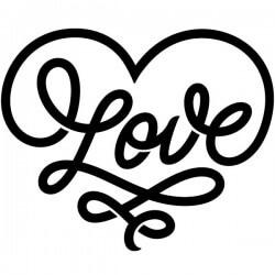 Vinilo frase Love