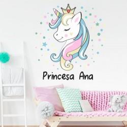 Vinilo princesa Unicornio