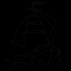 Adhesivo de pared barco 1