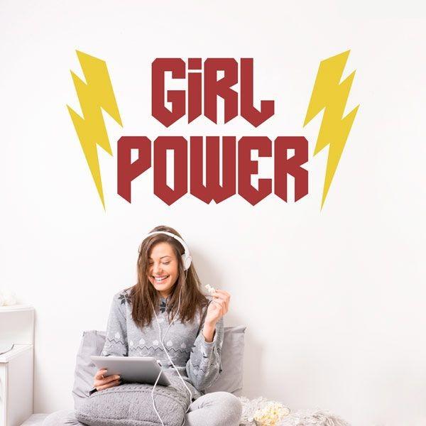 Adhesivo de pared girl power