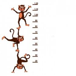 Vinilo medidor infantil monos