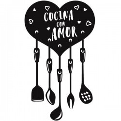 Vinilo cocina con amor