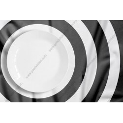Fotomural plato blanco