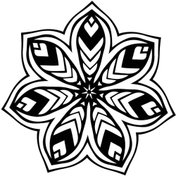 Mandala pétalos rayados