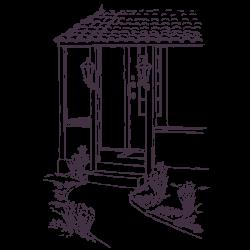 Vinilo decorativo cabaña